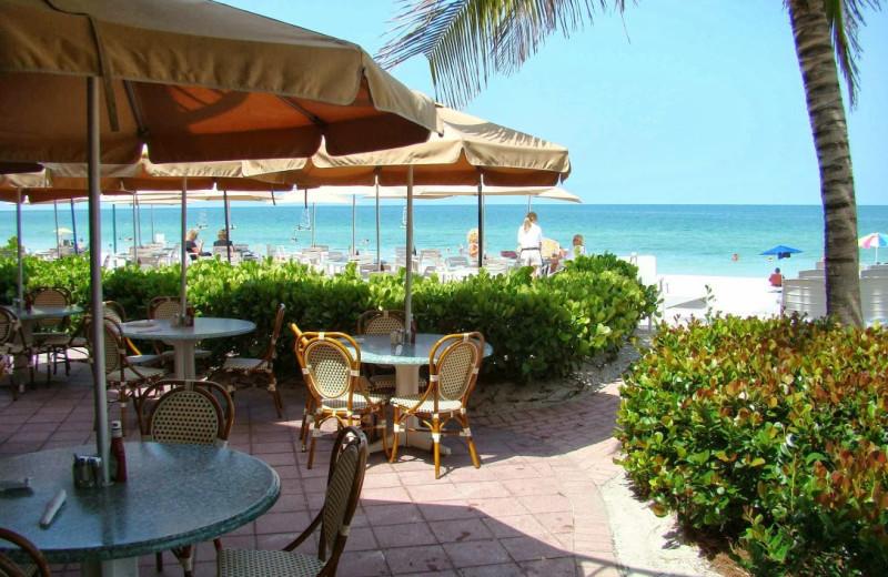 Patio dining at Vanderbilt Beach Resort.