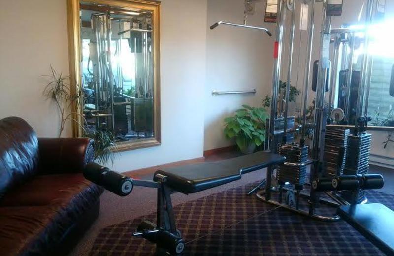 Fitness room at Adobe Resort.