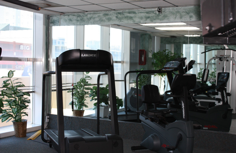 Fitness room at Four Sails Resort.