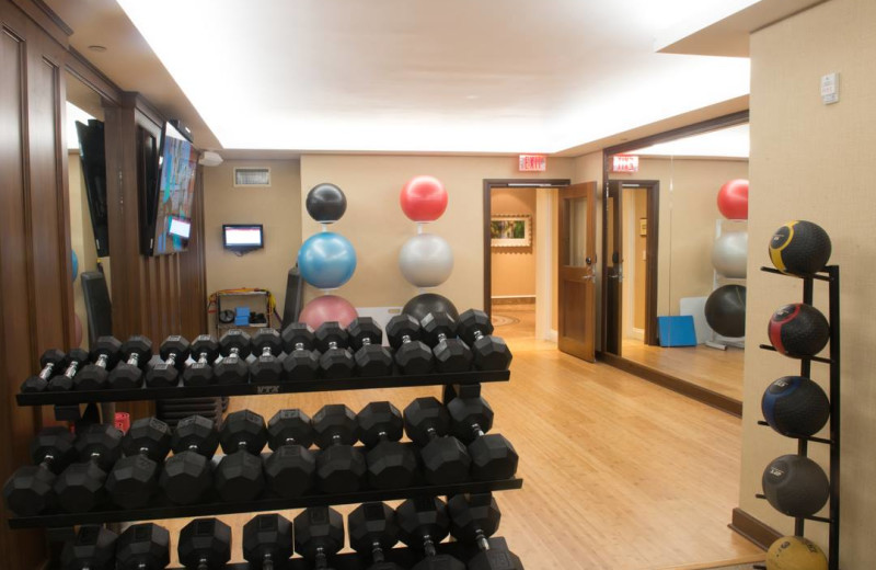 Fitness room at Inn by the Sea.
