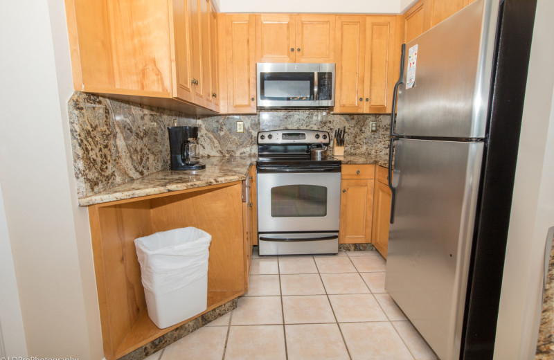 Rental kitchen at Holiday Isle Properties, Inc.