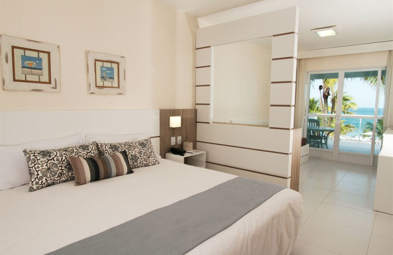 Guest room at Plaza Itapema Resort.