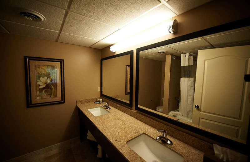 Guest bathroom at Fourwinds Resort & Marina.