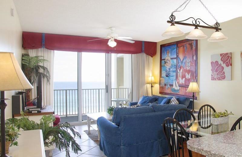 Rental living room at Seascape Resort.