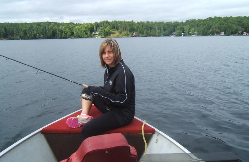 Fishing at Rocky Crest Golf Resort.