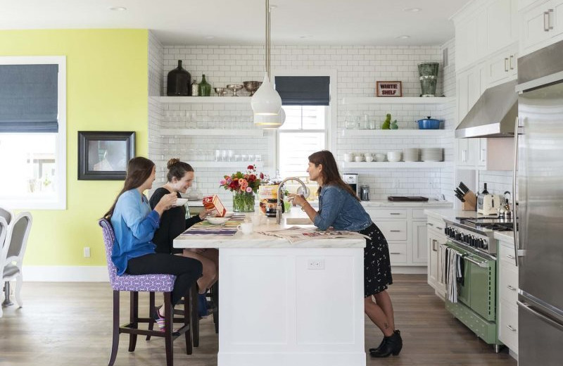 Rental kitchen at Seabrook Cottage Rentals.