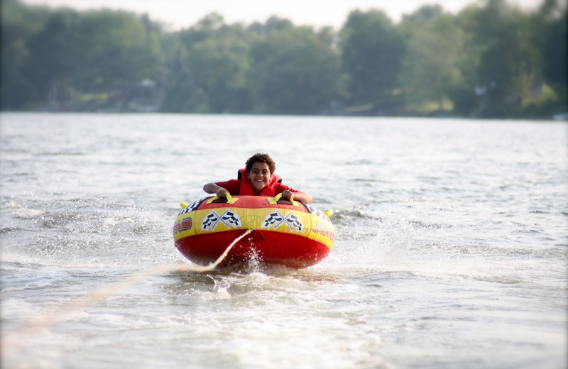 Tubing at Southview Cottages Resort.
