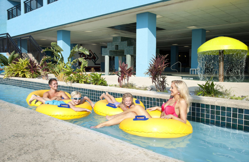 Floating down the lazy river at Landmark Resort.