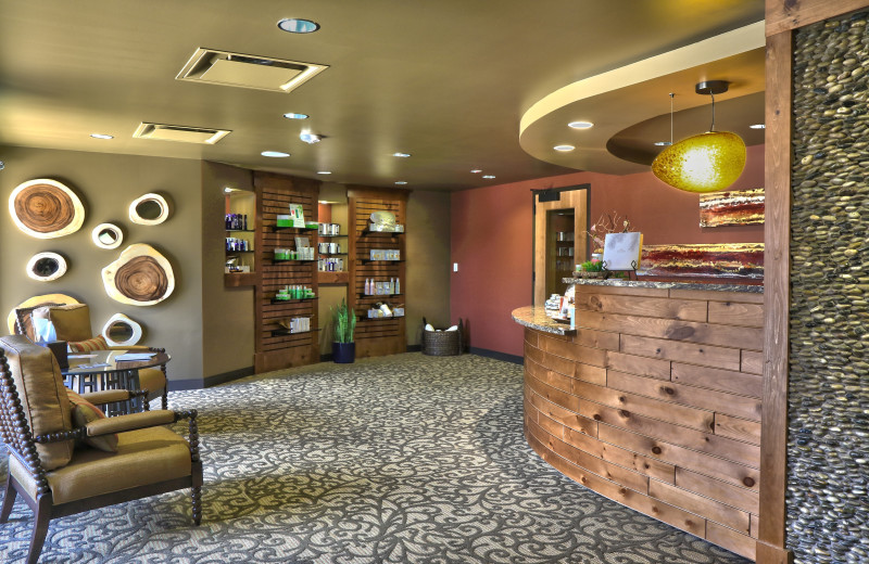 Reception area at Alluvia Spa & Wellness Retreat, Cheyenne Mountain Resort's on-site spa.