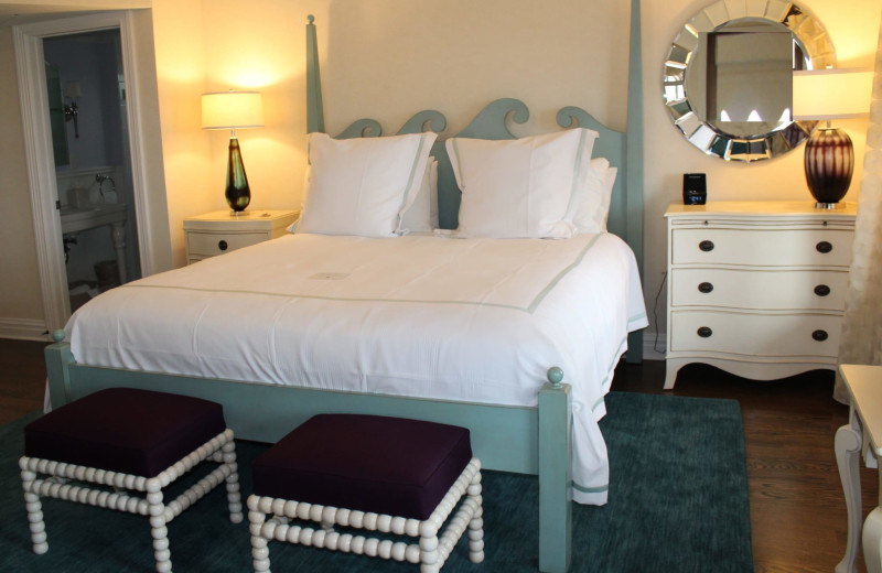 Guest bedroom at Saybrook Point Inn, Marina & Spa.