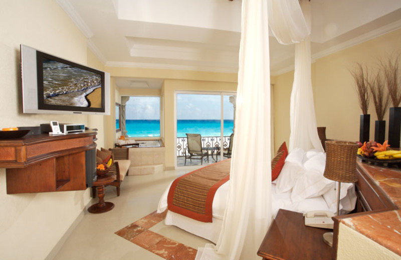 Guest room at Royal Luxury Cancun.