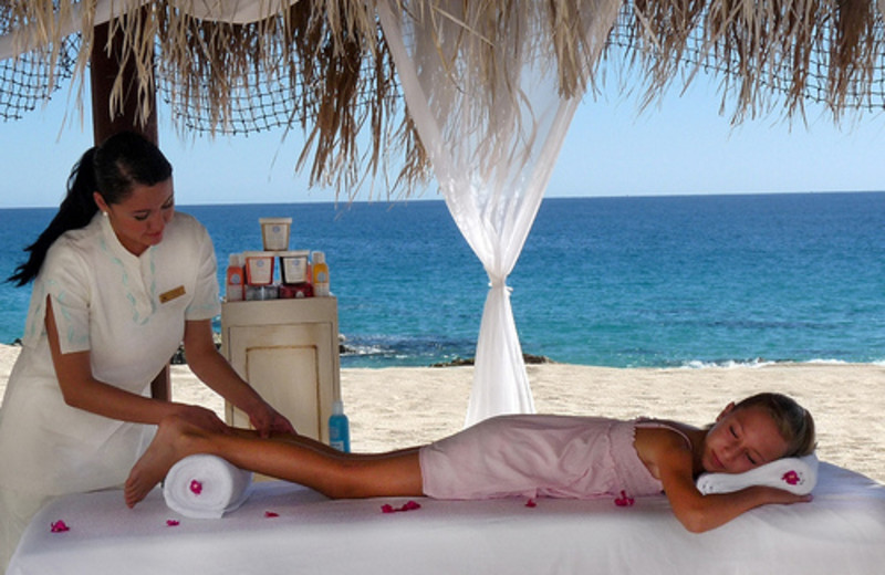 Spa massage at Hilton Los Cabos Resort.