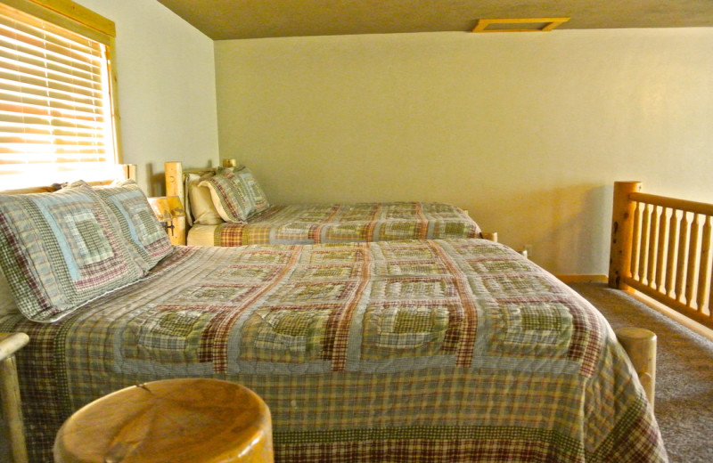 Double guestroom from cabins at Sawtelle Mountain Resort.