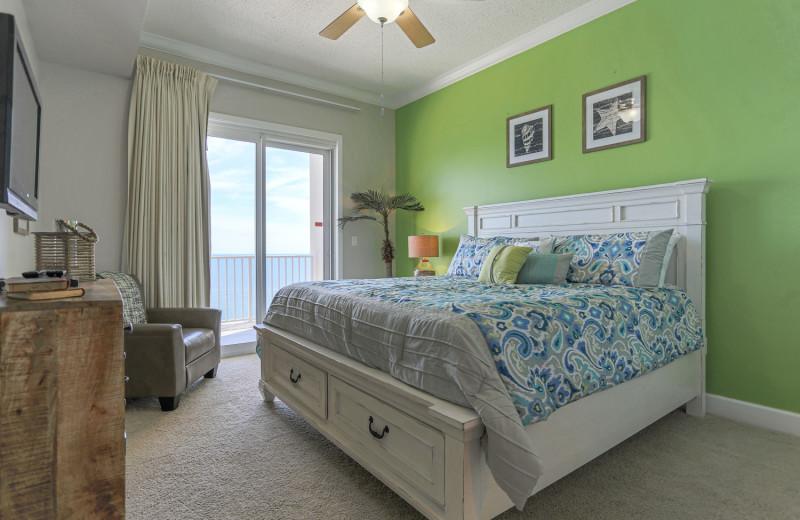 Rental bedroom at Windemere Perdido Key.