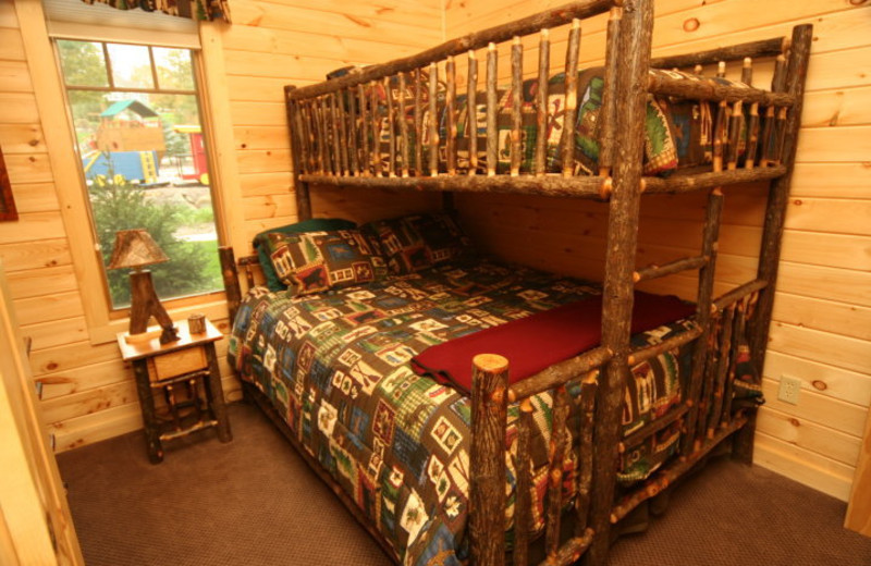 Bunk beds at The Lodges at Cresthaven on Lake George.