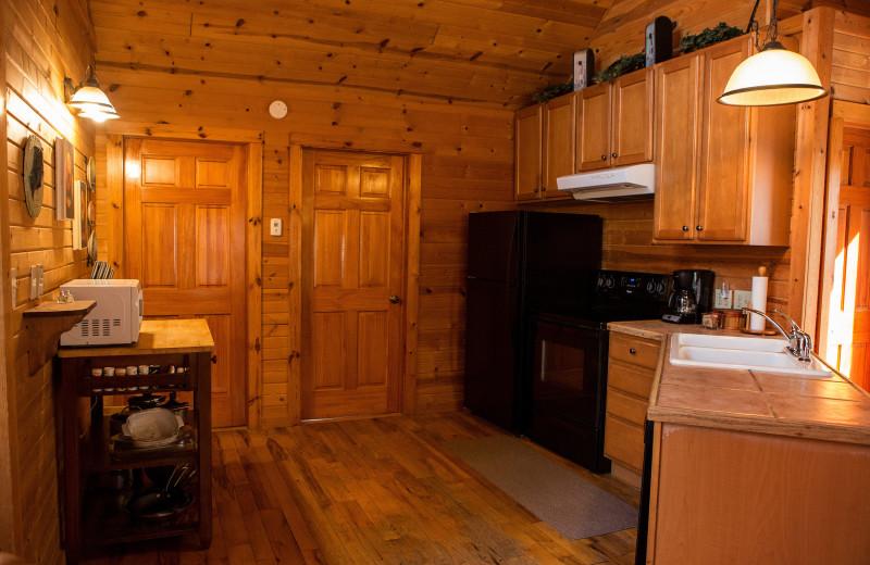 Cottage kitchen at Harvest Moon Cottages.