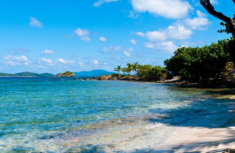 Beach at Paradise Cove Resort.