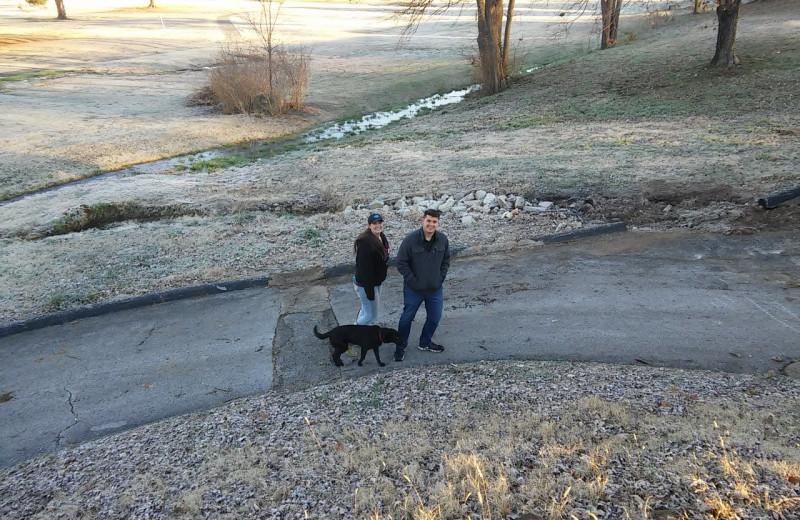 Hiking at Dawn Hill Community.