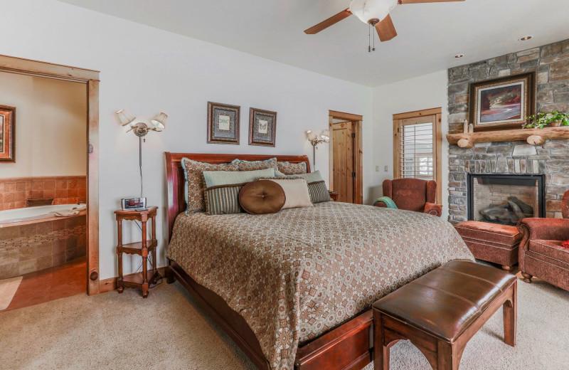 Rental bedroom at Access Winter Park Lodging.