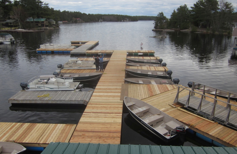 Dock at Wolseley Lodge.