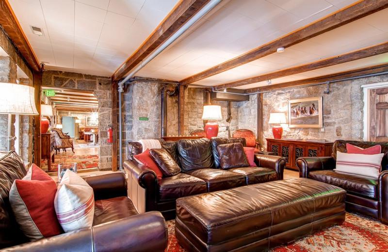 Upstairs Lounge at Snowpine Lodge.