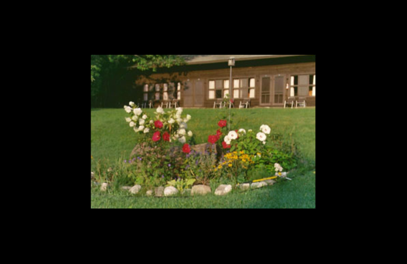 Garden at Northern Lake George Resort.