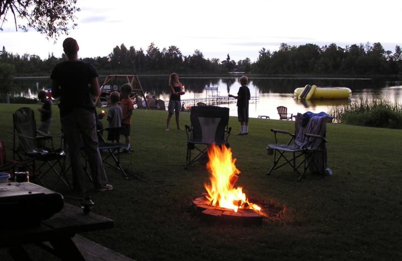 Bonfire at Kokomo Resort.