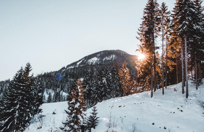 Mountains near Cascade Lodge.