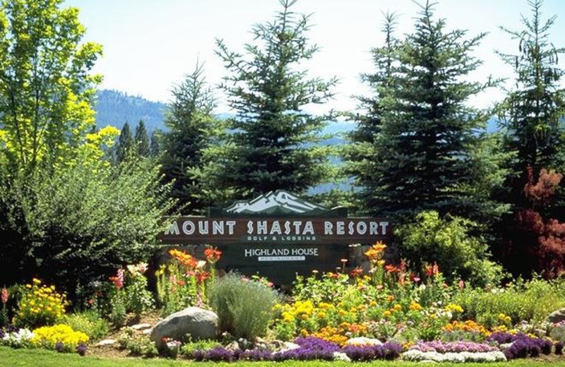 Entrance to Mount Shasta Resort