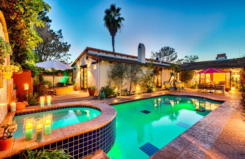 Rental outdoor pool at Seabreeze Vacation Rentals, LLC-Orange County.