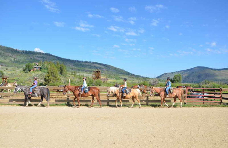 Horseback riding at C Lazy U Ranch.