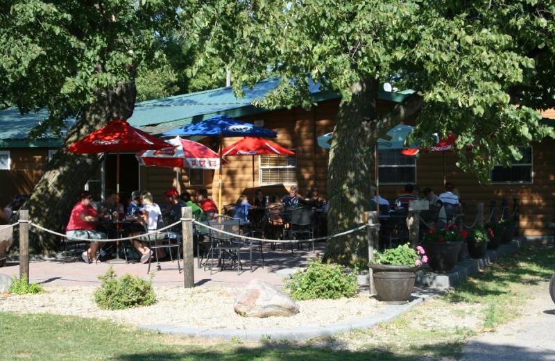 Patio at Ten Mile Lake Resort.