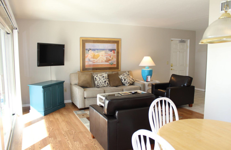 Guest living room at Gulfview Manor Resort.