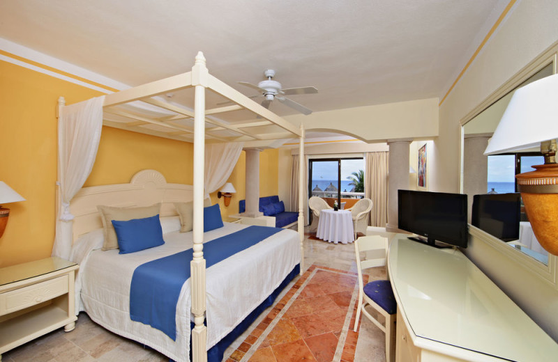Guest room at Bahia Principe Akumal.