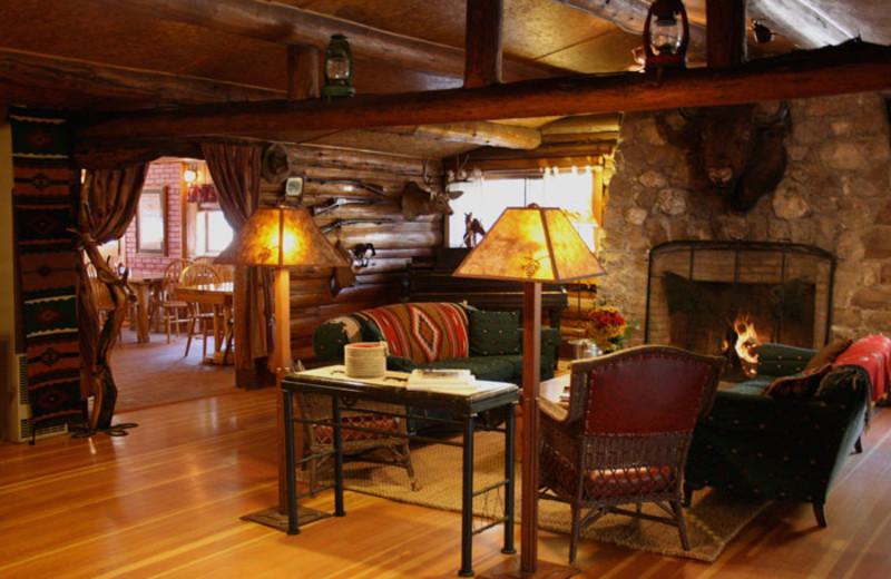 Cabin Living Room at Bill Cody Ranch
