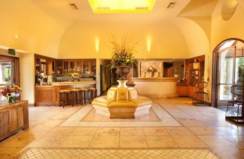 Lobby at Villagio Inn and Spa.