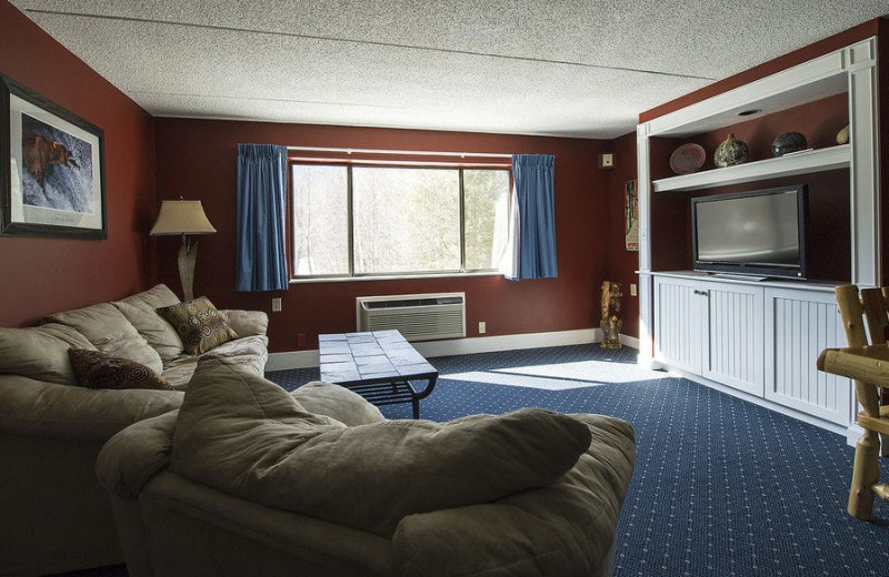 Guest living room at Waterville Valley.