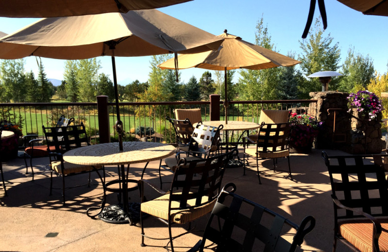 Patio at Pronghorn Resort.
