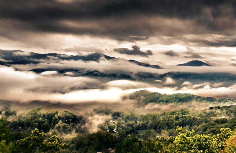 Mountain view at Hidden Creek Cabins.