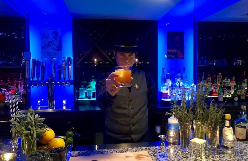 Bar at Blu-tique Hotel.