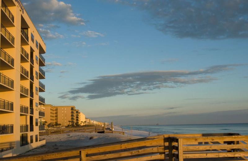 Beach view at Nautilus Condominiums.