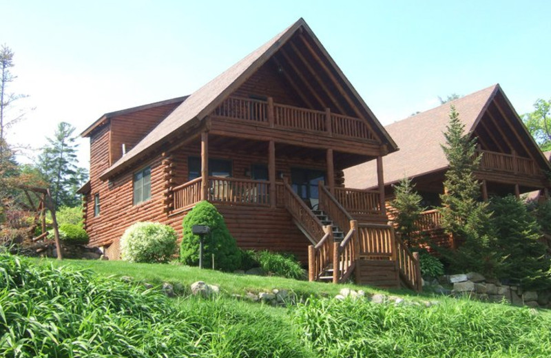 Exterior at The Lodges at Cresthaven on Lake George.
