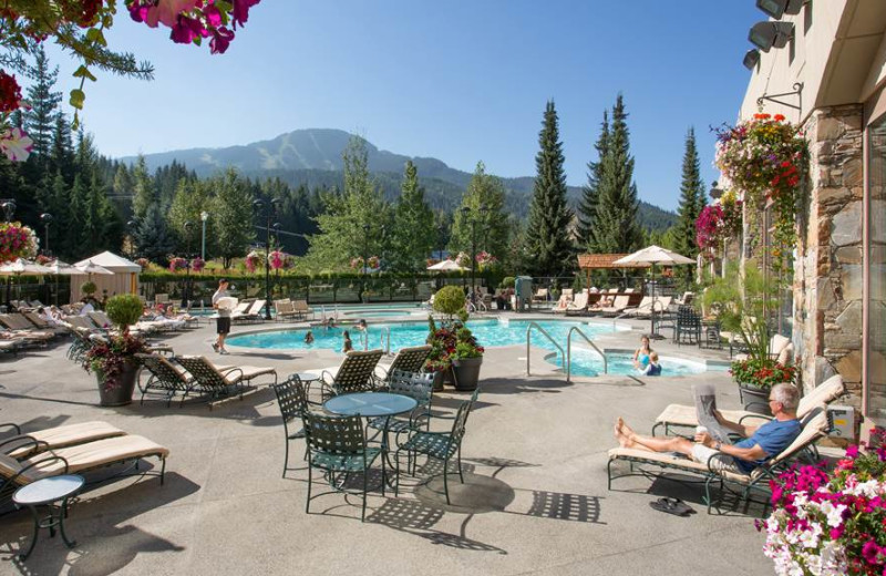 Outdoor pool at The Fairmont Chateau Whistler.