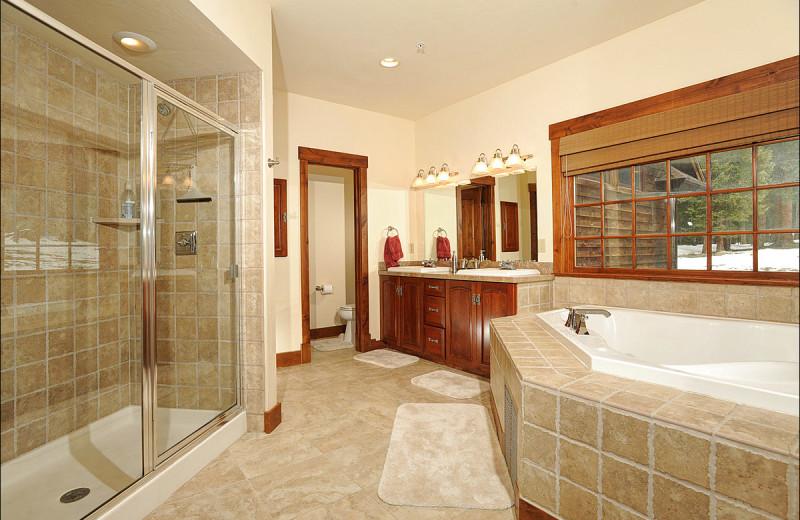 Rental bathroom at Breckenridge Rentals by Owner.