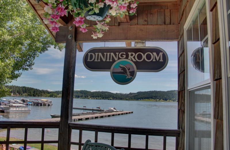 Restaurant view at Silver Beach Resort.