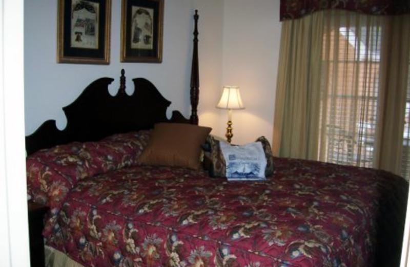 Guest room at Westgate Williamsburg.