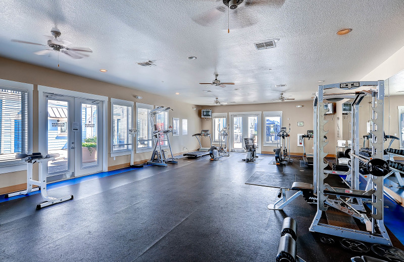 Rental fitness room at Pointe West Properties.