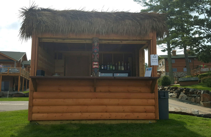 Tiki bar at Big Sandy Lodge & Resort.