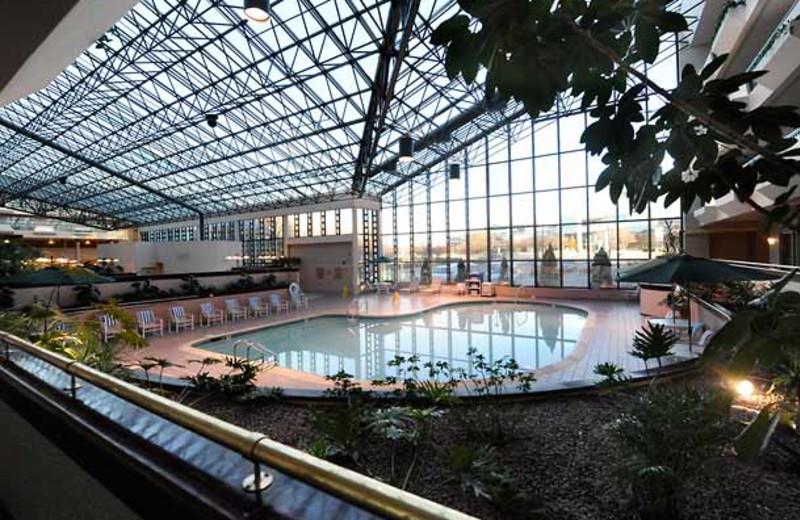 Indoor pool at Melville Marriott Long Island.