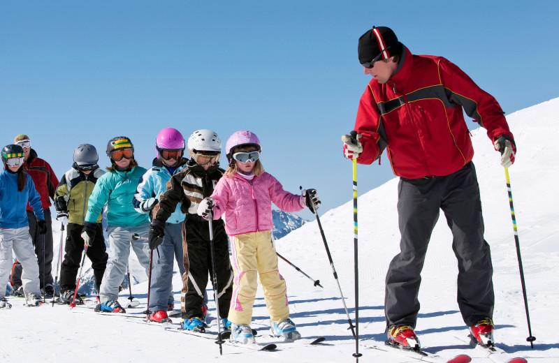 Ski school at Canyon Services Vacation Rentals.